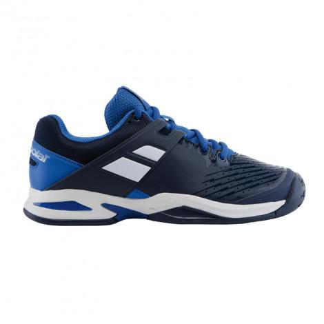 Giày tennis trẻ em Babolat Propulse All Court White / Blue - 33S17478