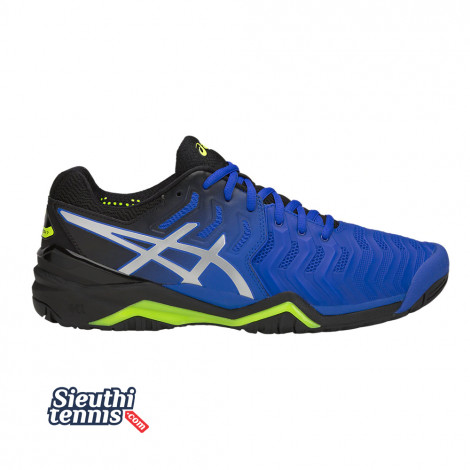 Giày tennis Asics Gel Resolution 7 Black/Blue/Yellow 2019