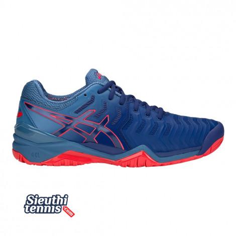 Giày tennis Asics Gel Resolution 7 Blue/Red 2018 E701Y-400