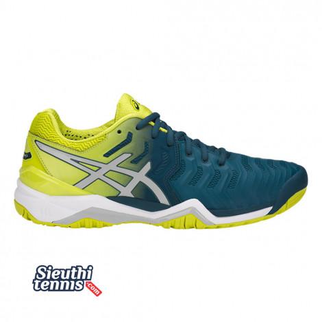 Giày tennis Asics Gel Resolution 7 Blue/Yellow E701Y-4589