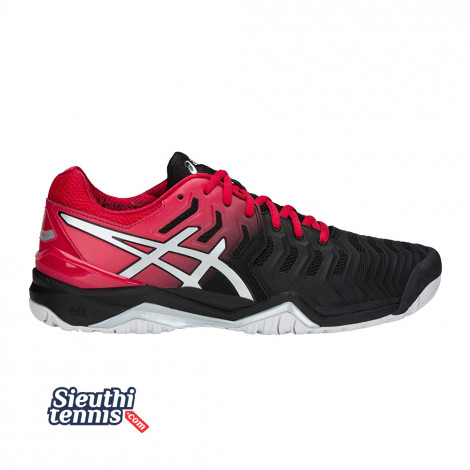 Giày tennis Asics Gel Resolution 7 Red/Black E701Y-001