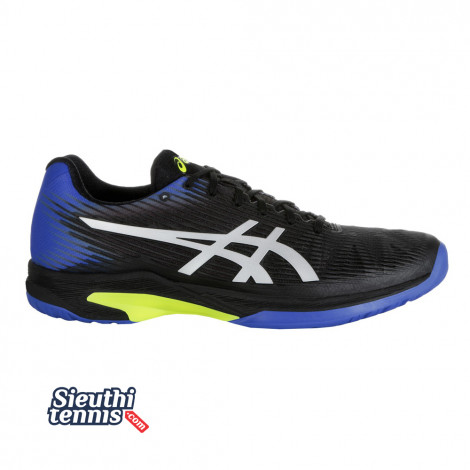 Giày Tennis Asics Solution Speed FF Black/Blue/Yellow 2019