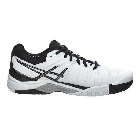 Giày Tennis Asics Gel Solution 6 White/Black E500Y0190