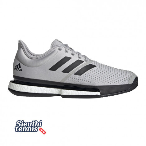 Giày tennis Adidas Sole Court Boost Grey/Black