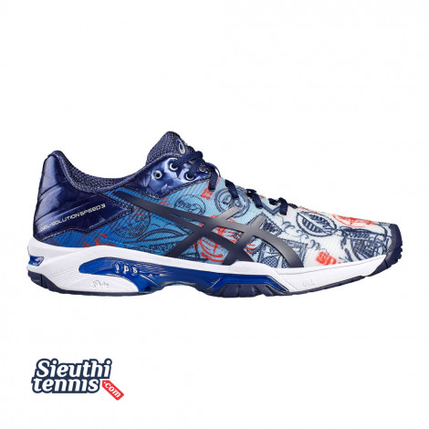 Giày tennis Asics Gel Solution Speed 3 L.E Paris E618N-4549