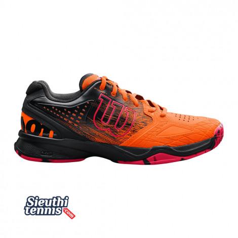 Giày Tennis Wilson Kaos Comp Orange/Black/Red WRS323890