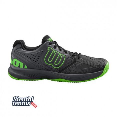 Giày Tennis Wilson Kaos Comp 2.0 Black/Ebony/Green WRS324830