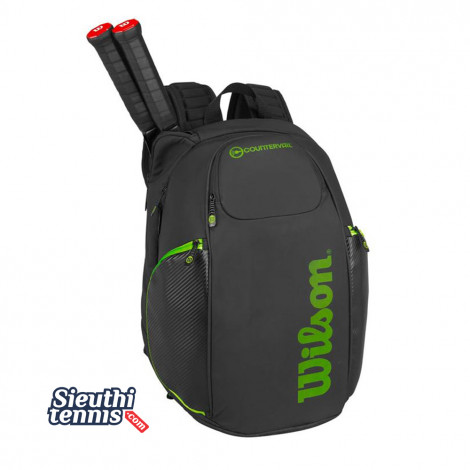 Balo tennis VANCOUVER BACKPACK Black-Green WRZ842796