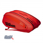 Túi tennis Wilson Federer DNA Red 12 pack WRZ830812