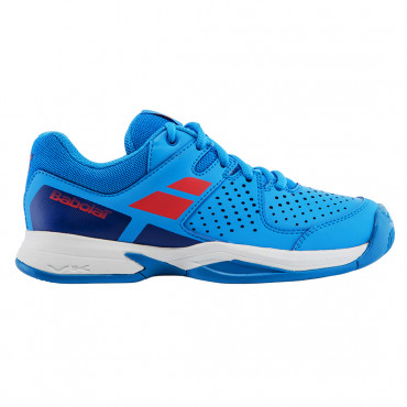 Giày tennis trẻ em Babolat Pulsion All Court White / Blue - 33S17482
