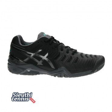 Giày Tennis Asics Gel Resolution 7 Black E701Y-9095