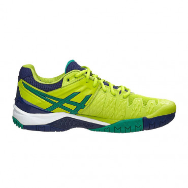 Giày Tennis Asics Gel Resolution 6 Lime/Green/Blue E500Y-0588