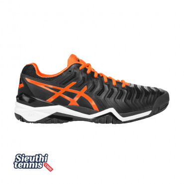 Giày Tennis Asics Gel Resolution 7 Bk/Or/Wh E701Y-9030