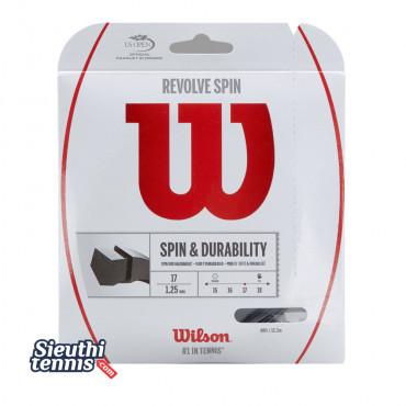 Dây cước tennis Wilson Revolve Spin 17 Black WRZ958900