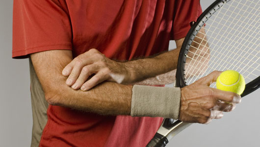 Chữa đau khuỷu tay trong Tennis