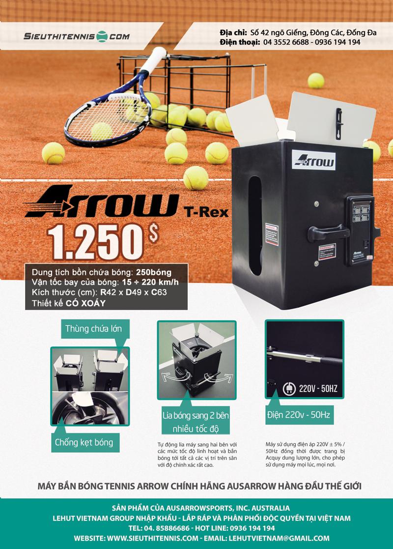 Máy bắn bóng tennis Arrow T-Rex