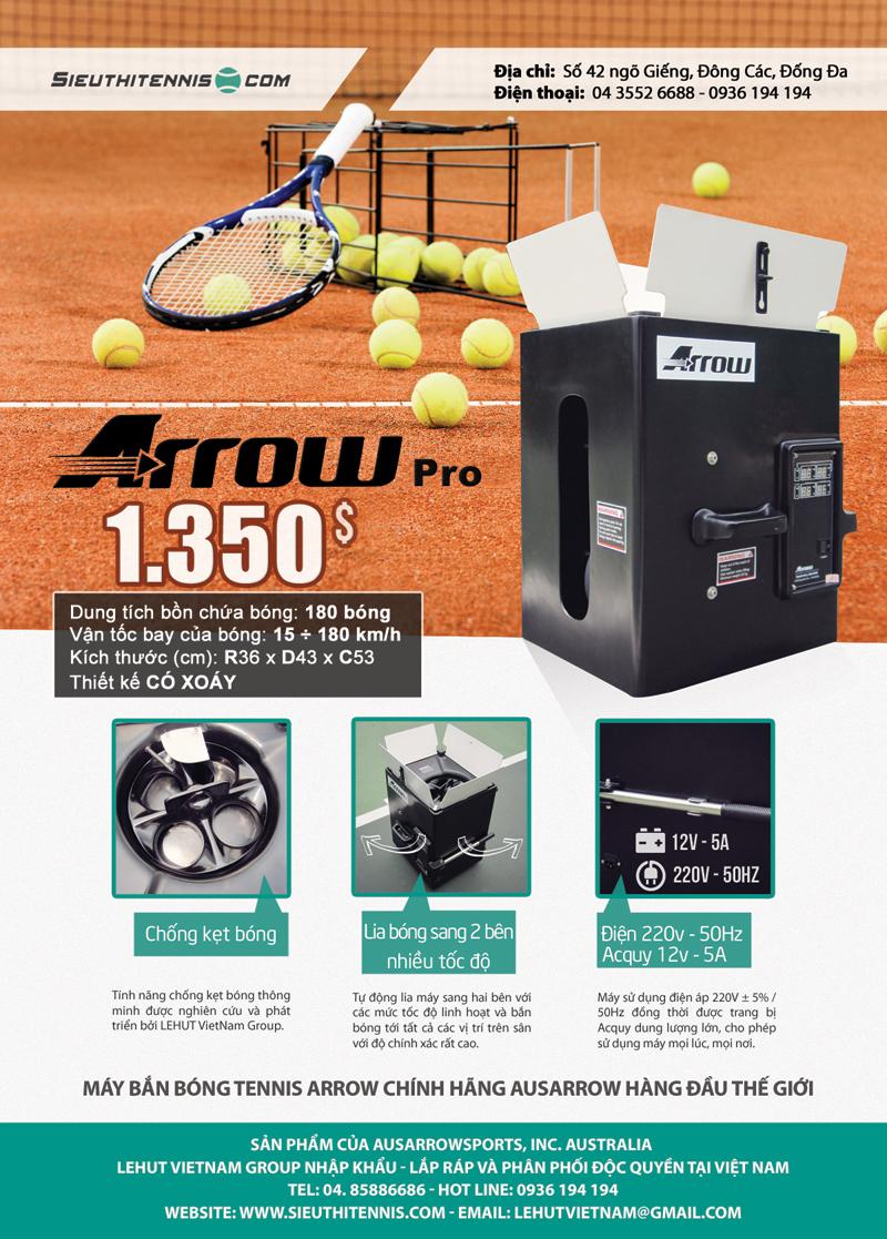 Máy bắn bóng tennis Arrow Pro
