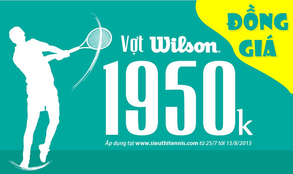 Khuyến mãi vợt tennis đồng giá 1950k