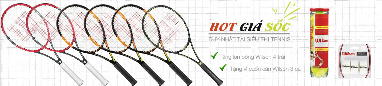 Mua vợt tennis tặng bóng tennis và cuốn cán Wilson