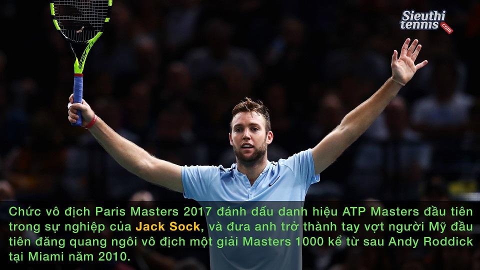 Jack Sock vô địch Paris Masters, đoạt vé cuối dự ATP Finals